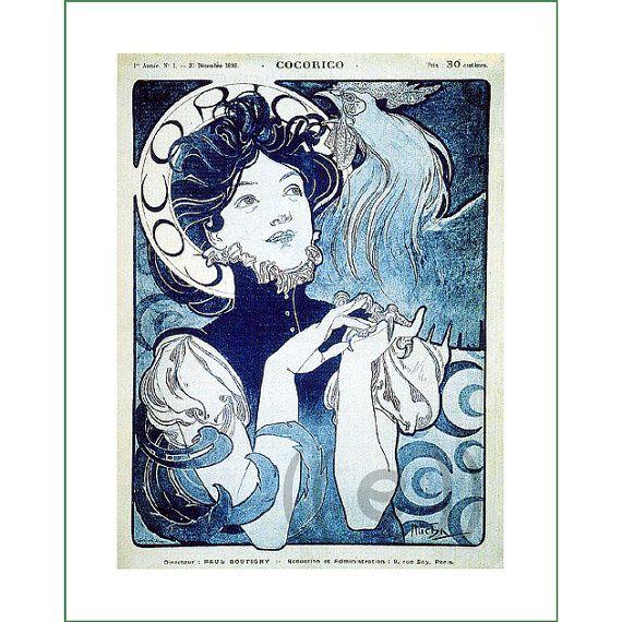 fabric panel - painting by Alphonse Mucha (24)