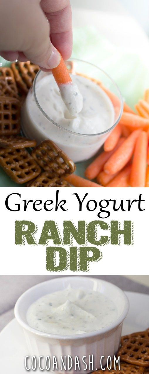 This greek yogurt ranch dip is healthy, low cal, and low fat!! It's so easy and the perfect dip for any snack!! Greek Yogurt Ranch Dip!
