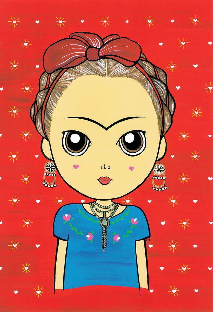 #illustration #drawn #girl #art #frida #artist #mexican #poster #woman