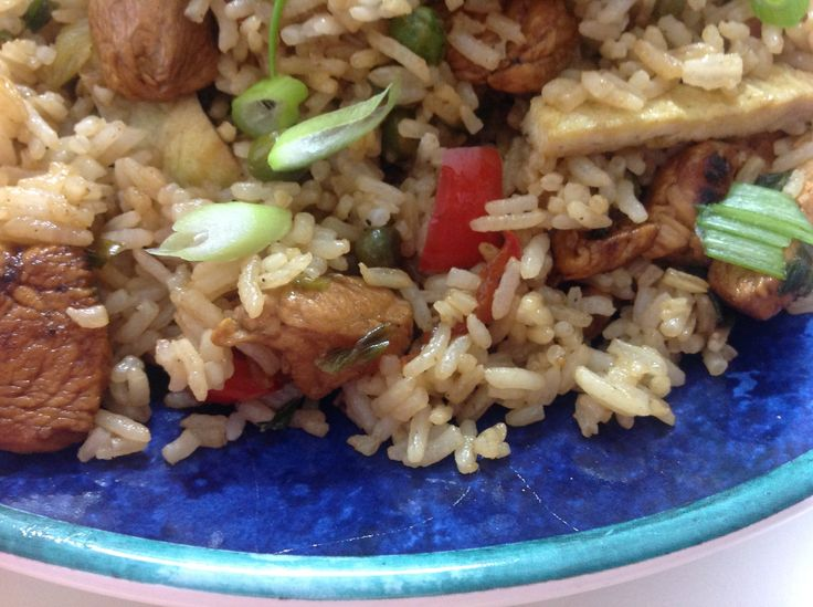 How to make Chinese Fried Chicken Rice