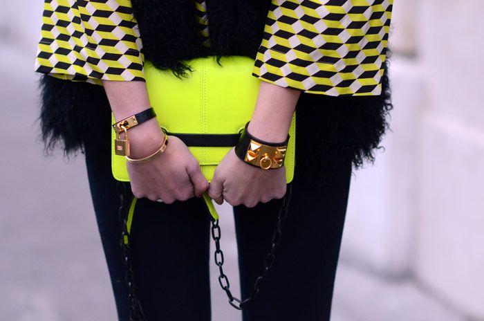 Hermes Collier de chien + Hermes watch, Last outfit from Paris