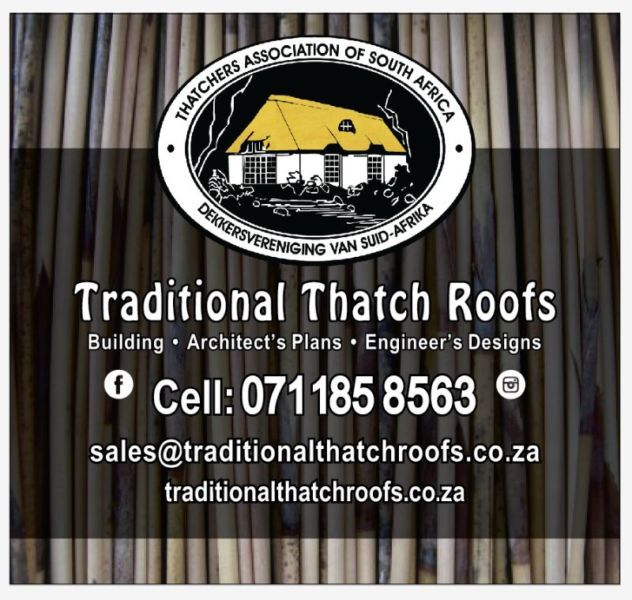 All your your Thatching requirement.  Building  1. Braai rooms 2. Building and alterations   Thatching 1. New thatched roofs 2. Maintenance ...168557470