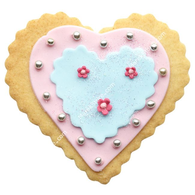 Foremki do wykrawania ciastek HEARTS - zestaw 3 szt. | KITCHEN CRAFT SWEETLY DOES IT
