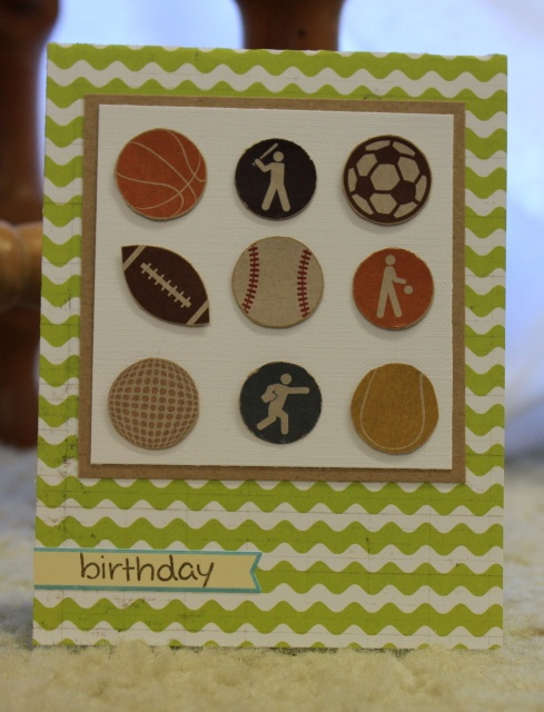 96 best sports cards images on pinterest birthdays card crafts easy sports birthday card m4hsunfo