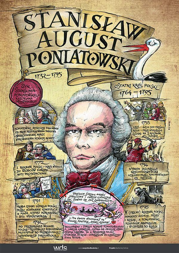 Stanisław August Poniatowski - Poczet królów polskich - PlanszeDydaktyczne.pl