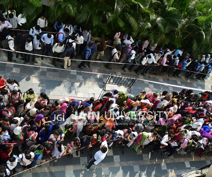 When Job seekers show full dedication and participate in the Bangalore's biggest job fair organised by Jain University in association with LinkedIn and FirstNaukri
