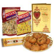 Sweet n Rakhi Card n Rakhi Hamper Online