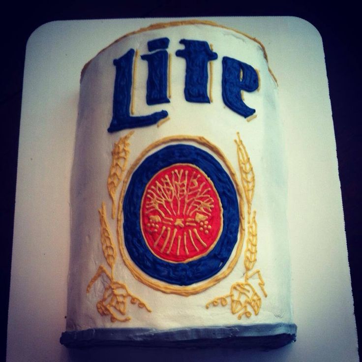 Miller Lite can cake