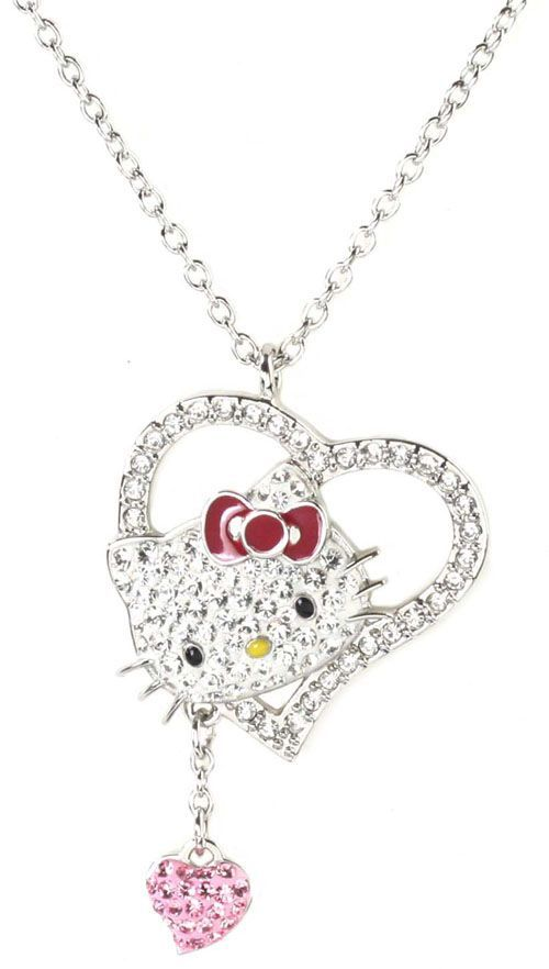 Necklaces Hellokitty Stuff Heart Hello Kitty Necklaces Necklaces ...