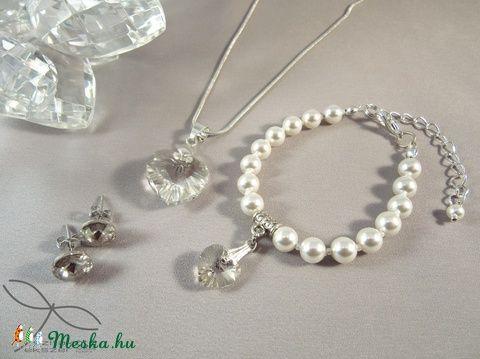 Meska - Swarovski szett esküvőre - kristály Edina09 kézművestől
