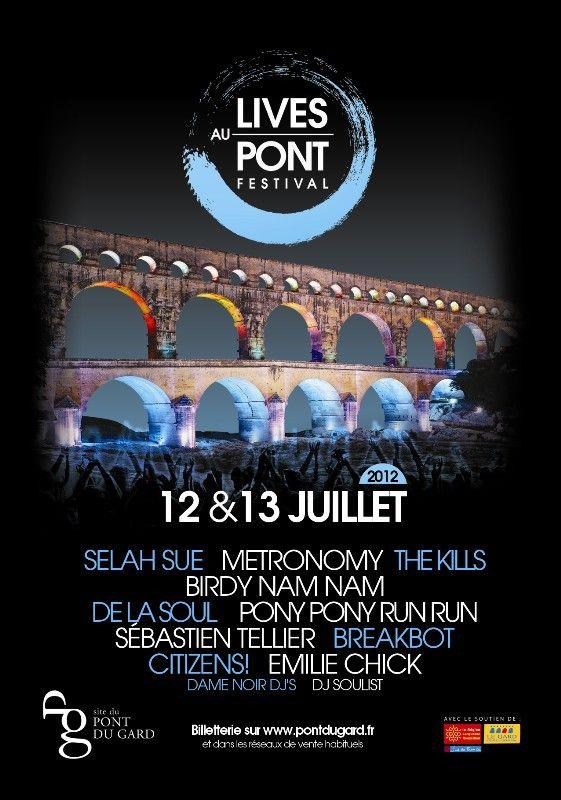 Festival Lives Au Pont - Le 12 et 13 juillet 2012 au Pont du Gard (Gagnez des places)-http://www.kdbuzz.com/?festival-lives-au-pont-le-12-et-13-juillet-2012-au-pont-du-gard-gagnez-des-places