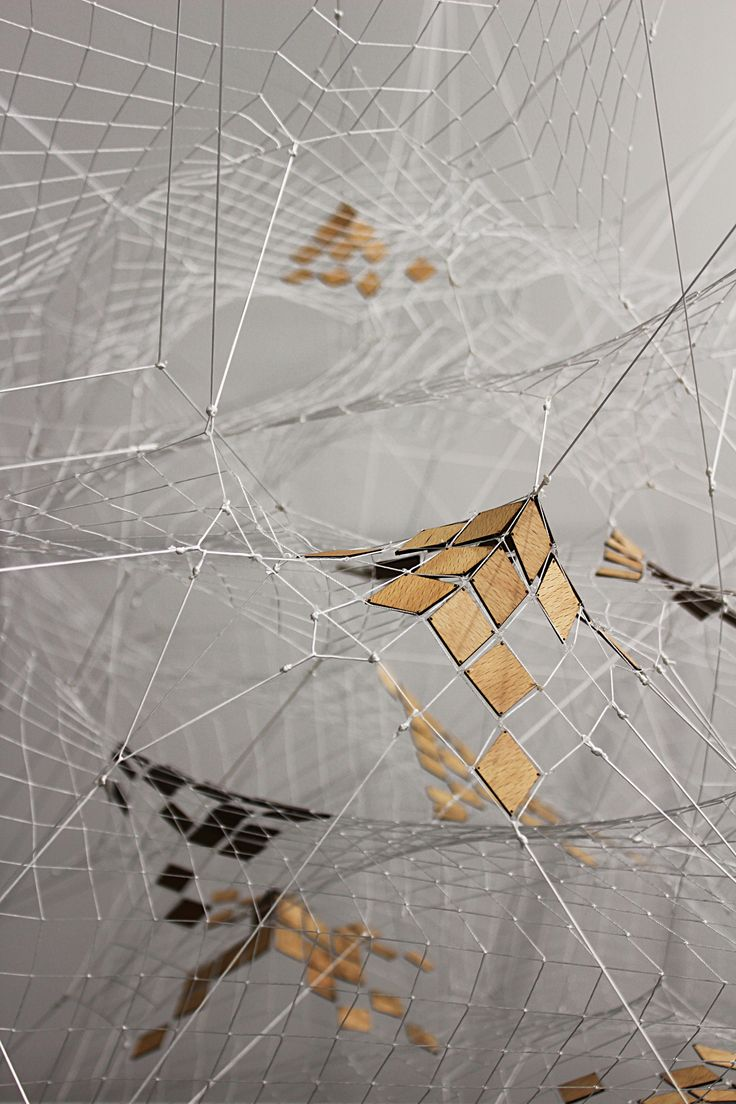 White net with wooden details Tomás Saraceno, 2014 Tanya Bonakdar Gallery,  NYC Art|