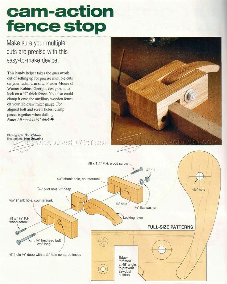 DIY Fence Stop - Marking and Measuring Tips, Jigs and Techniques   WoodArchivist.com