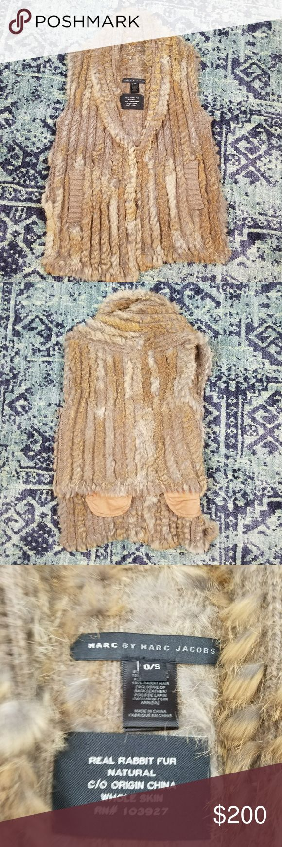Marc Jacobs Rabbit Fur Vest Marc Jacobs Rabbit Fur Vest. In good pre owned condition. Worn 3 times.  One size. Color is more accurate to model picture. Marc By Marc Jacobs Tops