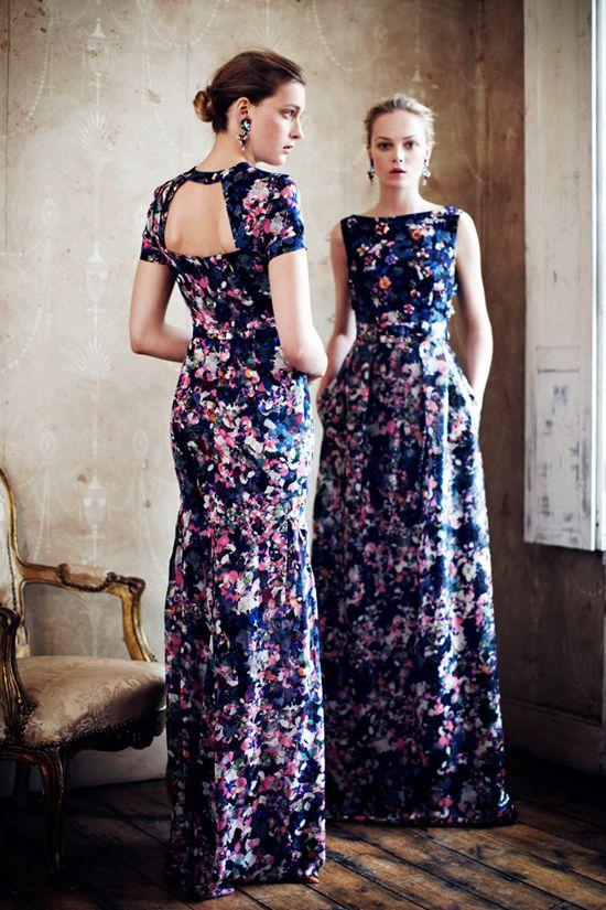 Vestido longo florido - Erdem