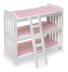 Mackenzie - Badger Basket Triple Doll Bunk Bed Set