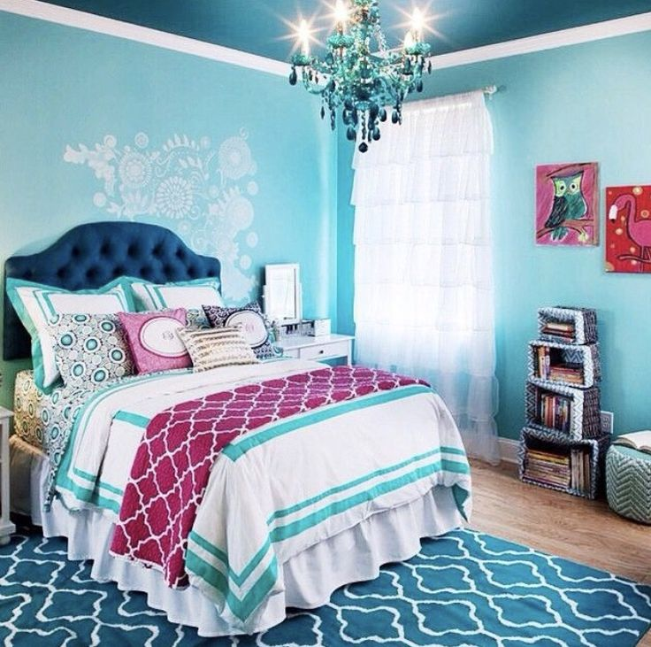 Turquoise Red Bedroom Decorating Ideas: Best 25+ Blue Girls Bedrooms Ideas On Pinterest