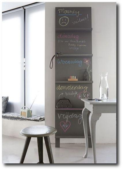Chalk Board Shelves