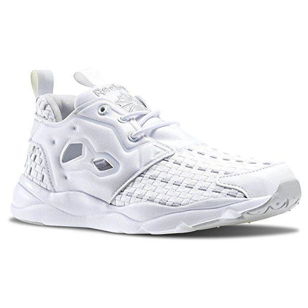 Reebok Lifestyle Women's Furylite New Woven White/Steel Sneaker 8.5 B (M)