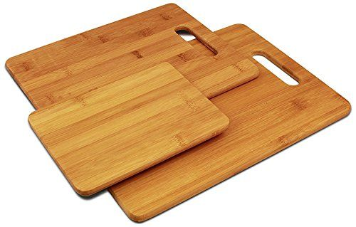 Avignon 3 Piece Bamboo Cutting Board Set, For Meat & Veggie Prep, Serve Bread, Crackers & Cheese, Cocktail Bar Board