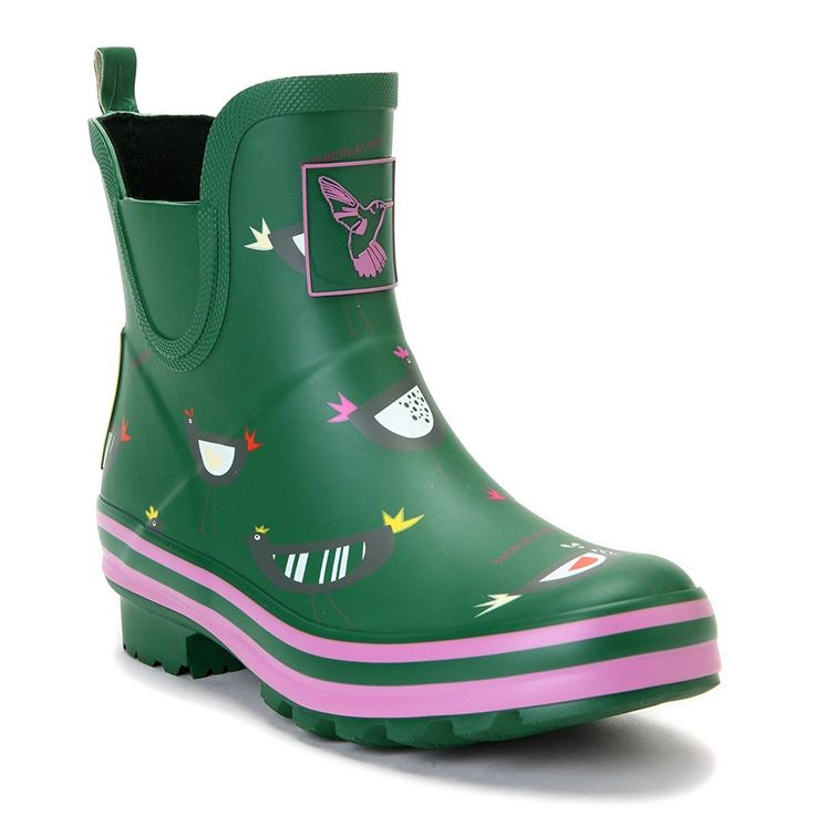 Women's Rain Boot Ankle Boots Waterproof Rain Footwear Cute Animal Print Colorful Meadow Wellies UK Brand *** Read more reviews of the product by visiting the link on the image.