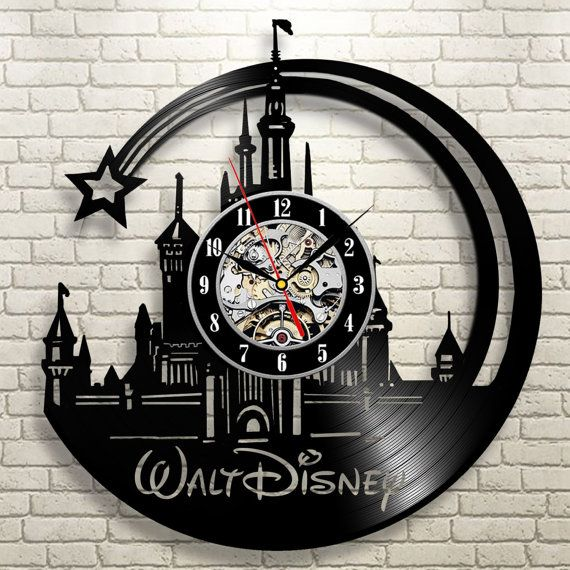 Disney world Disneyland art Vinyl record wall clock by ReplayShop