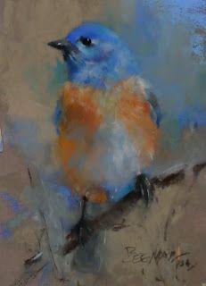 Daily Pastel Painting: Bluebird