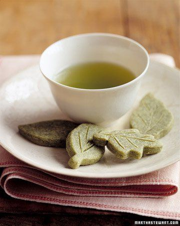 Green Tea Shortbread Leaves