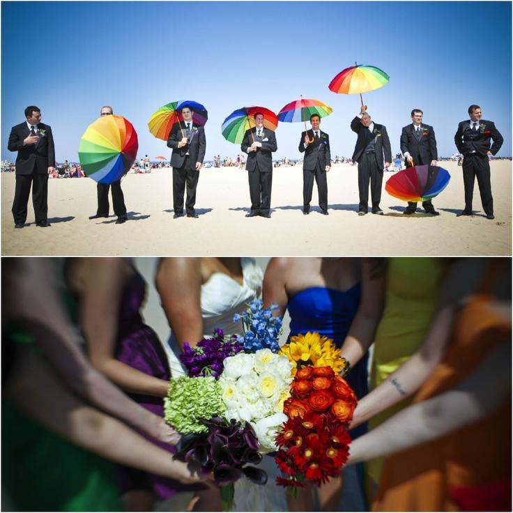 #rainbow #wedding #party!