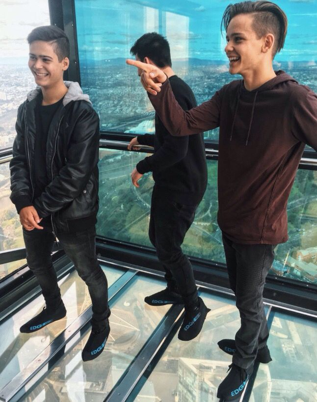 So they went on the Eureka Sky Deck...so cool!