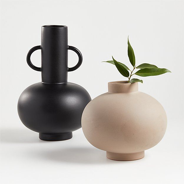 Full Moon Clay Vase Reviews Crate And Barrel In 2020 Black Vase Clay Vase Vase