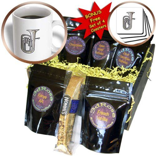 Susans Zoo Crew Music  euphonium brass instrument music realistic  Coffee Gift Baskets  Coffee Gift Basket cgb_164260_1 *** Find similar gift idea by clicking the image