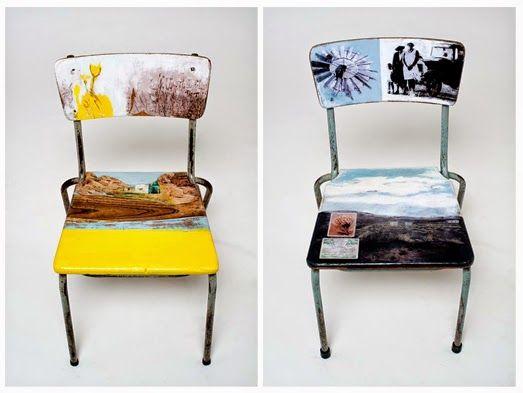 Ma maison au naturel: Des chaises d'école relookées par une artiste