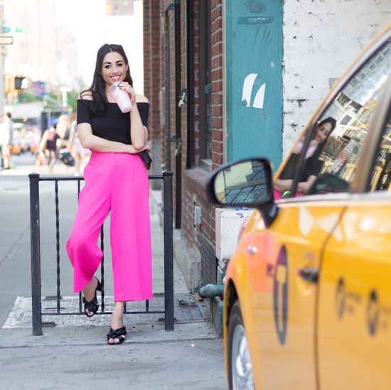 Hot pink culottes  #wearitloveit #todaysdetails #currentlywearing #getthelook #ShopStyleCollective #MyShopStyle #ssCollective #ootd #summerstyle