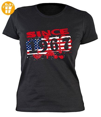 50 Geburtstag Damen T-Shirt - Damen 50 Jahre Usa Shirt : Usa since 1967 -- Usa Motiv Geburtstagsshirt 50 Damenshirt Gr: L (*Partner-Link)