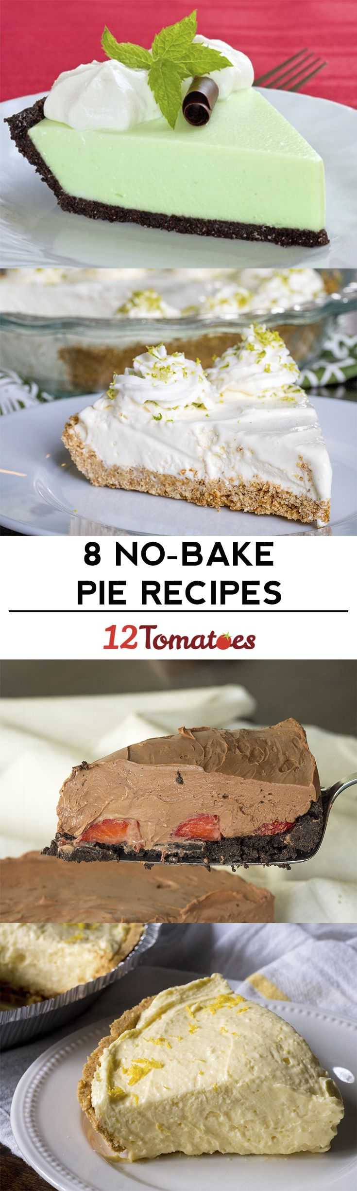 8 No-bake Pies -- let the fridge do the work!