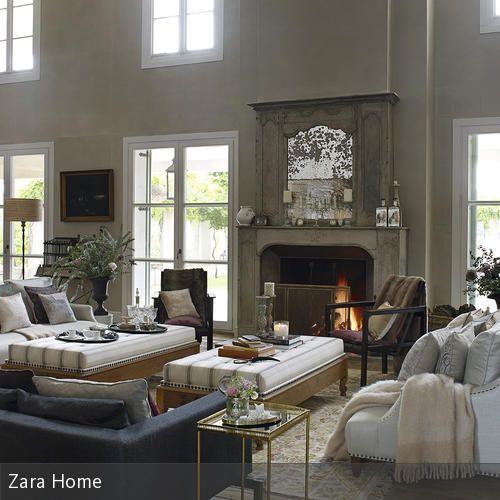 Die besten 25+ Kamin zwischen den Fenstern Ideen auf Pinterest - wohnzimmer modern kamin