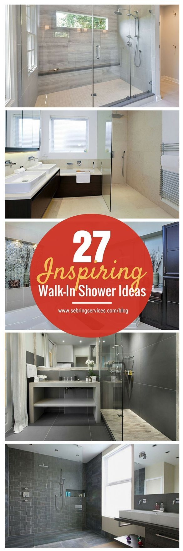 A walk-in shower creates a nice roomy feeling for your bathroom remodeling project. The lack of obstructions provides a seamless transition from the rest of the bathroom into the shower area. Not only is a walk-in shower safer, especially for the elderly and children, it also works perfectly for those who desire a relaxing minimalist bathroom style.