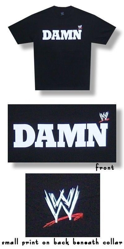 "Adult Men's Official WWE Ron Simmons ""DAMN"" Tee Shirt- Black XL #wwe #auction"