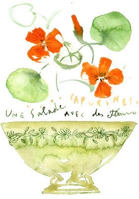 Lucile Prache salad of flowers!