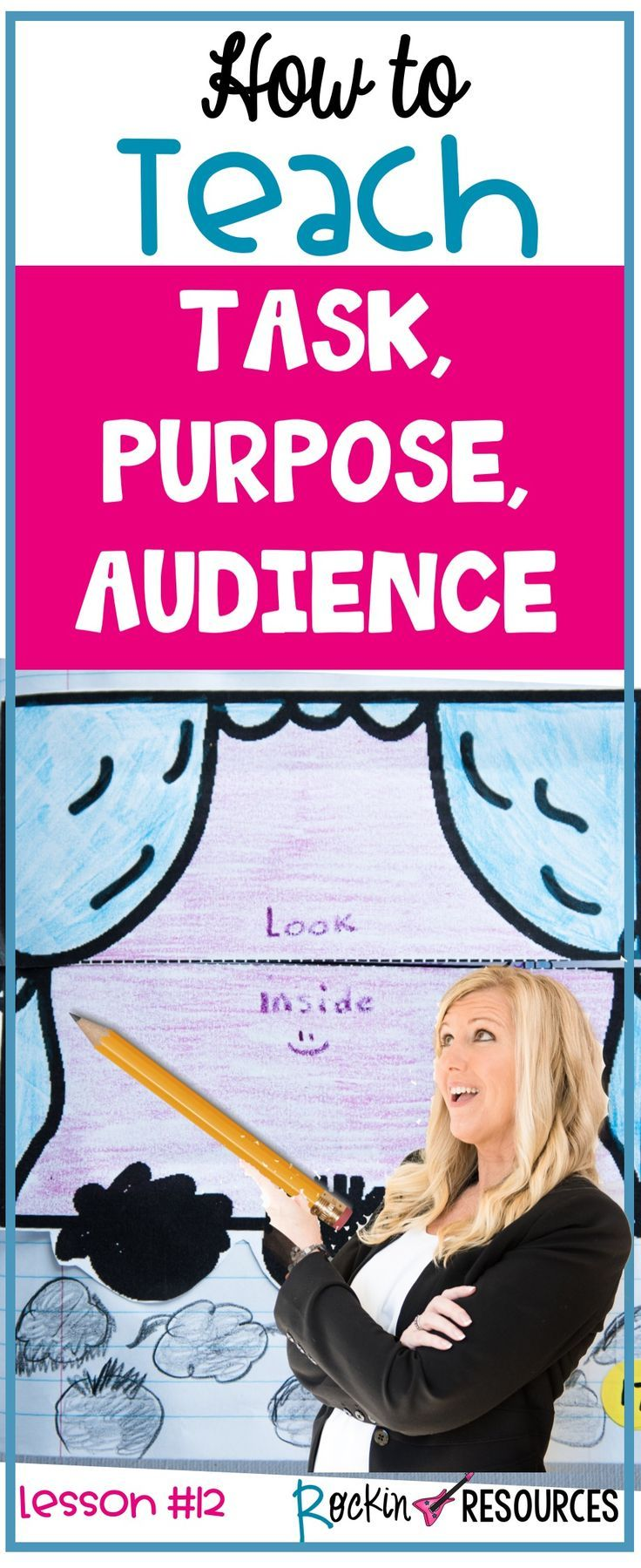 Writing audience and purpose worksheets for kids