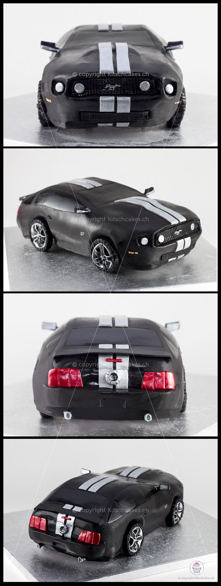 A 3-D Ford Mustang cake for a huge fan!!!
