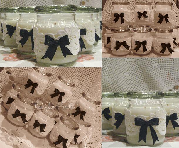 Wedding bonboniere / favours - vintage style-lace and ribbon