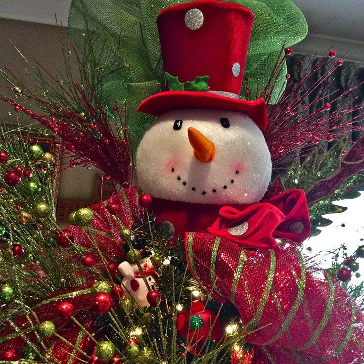 Decorate Christmas Tree Like Snowman: Snowman Tree Topper