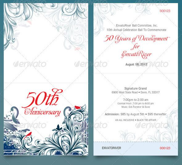 Folded Anniversary Ticket Template arsenal tickets Pinterest - ball ticket template
