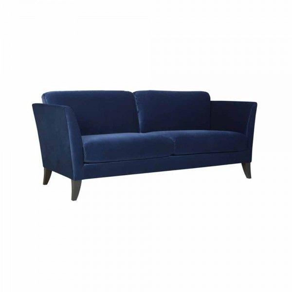 Samtsofa Karine 2 3 Sitzer Blau Samt Sofa Sofa Design Und Sofa