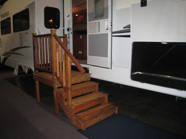 Gallery Rv Wooden Staircase Inc Camper Steps Wooden