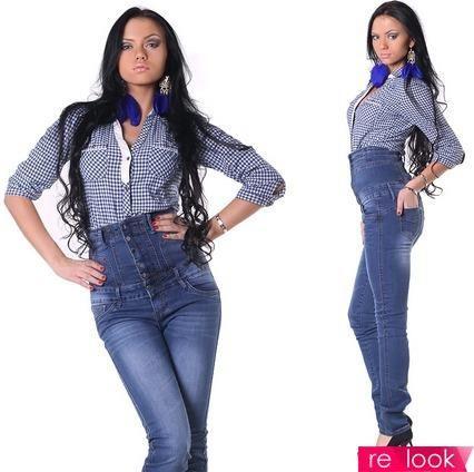 Модно джинсы с высокой талией