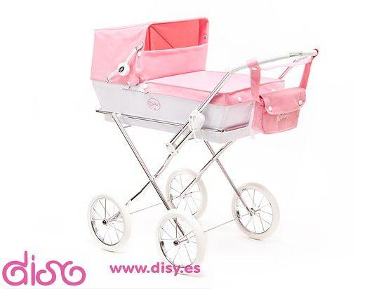 #carritosmuñecas #cochecitosmuñecas Cochecitos de muñecas Arrue - Carrito Prestigio JR. Rosa www.disy.es