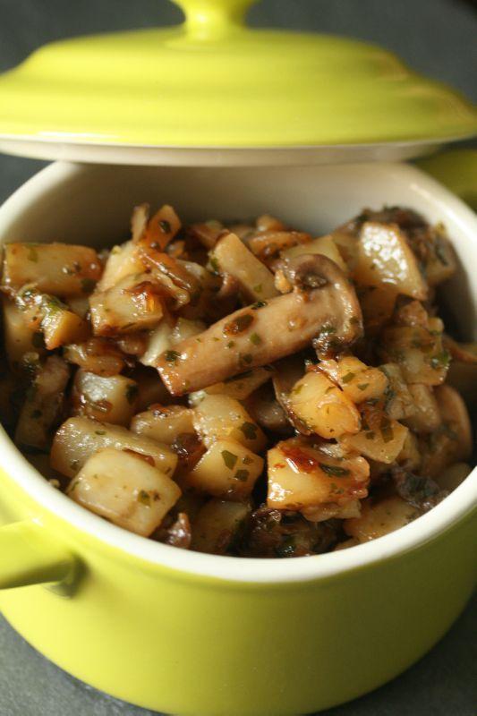 Poêlée de topinambours aux champignons - Chez Requia, Cuisine et confidences ...